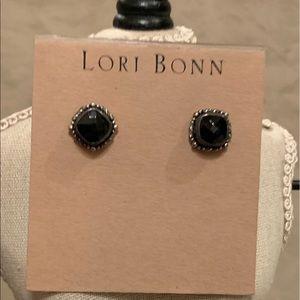 Jewelry - New! Sterling Silver Black Onix studs by Lori Bonn